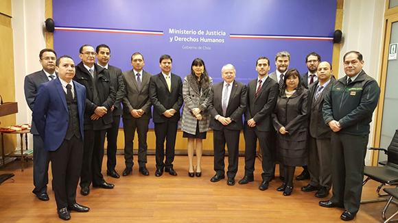 INSTANCIA DEL SECTOR JUSTICIA SUSCRIBE CONVENIO CON CHILE