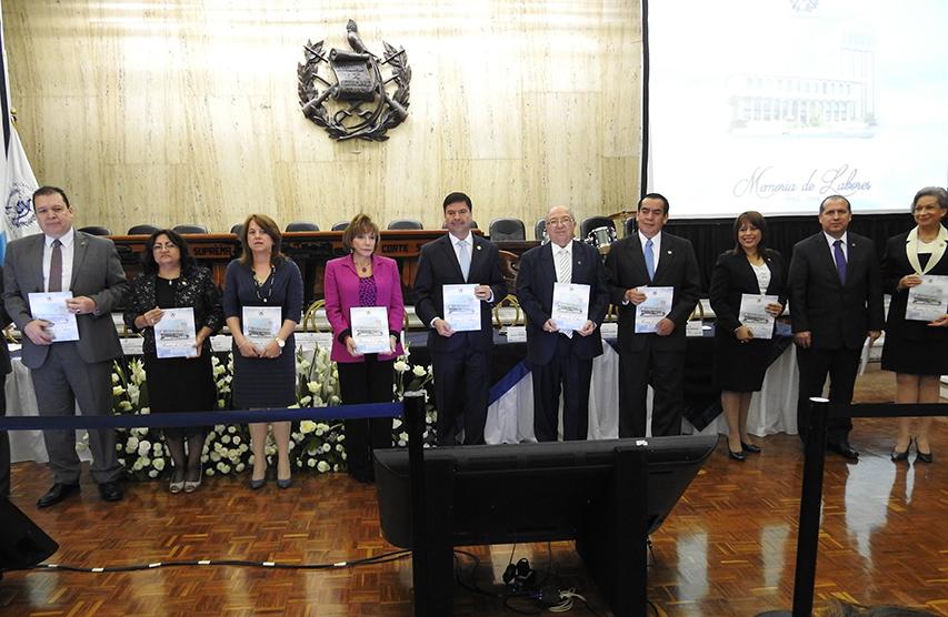 PRESIDENTE DE LA CORTE SUPREMA DE JUSTICIA Y ORGANISMO JUDICIAL DR. RANULFO RAFAEL ROJAS CETINA, PRESENTO MEMORIA DE LABORES DE SU GESTIÓN