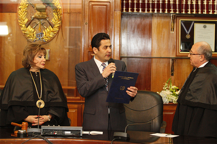 MAGISTRADO NERY MEDINA TOMA POSESIÓN COMO PRESIDENTE DEL ORGANISMO JUDICIAL Y DE LA CORTE SUPREMA DE JUSTICIA