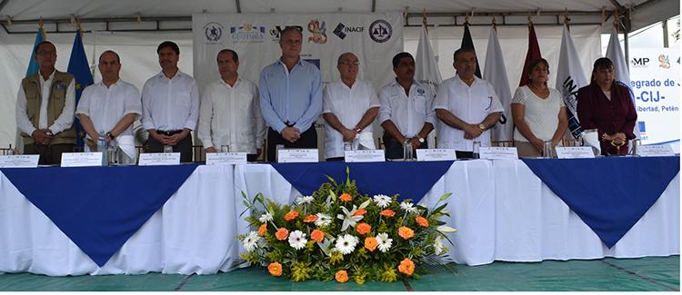 OJ, Mingob, MP, IDPP e INACIF Reciben Centro Integrado de Justicia en La Libertad, Petén