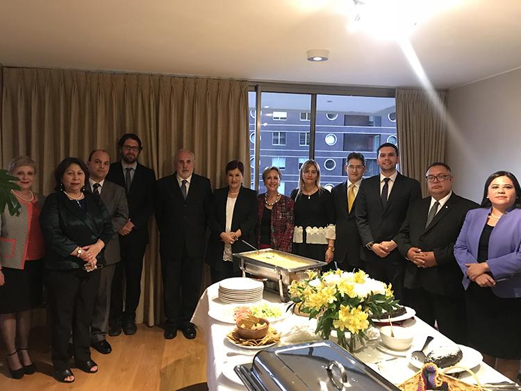 Delegación Guatemalteca Visita Ministerio de Justicia de Chile