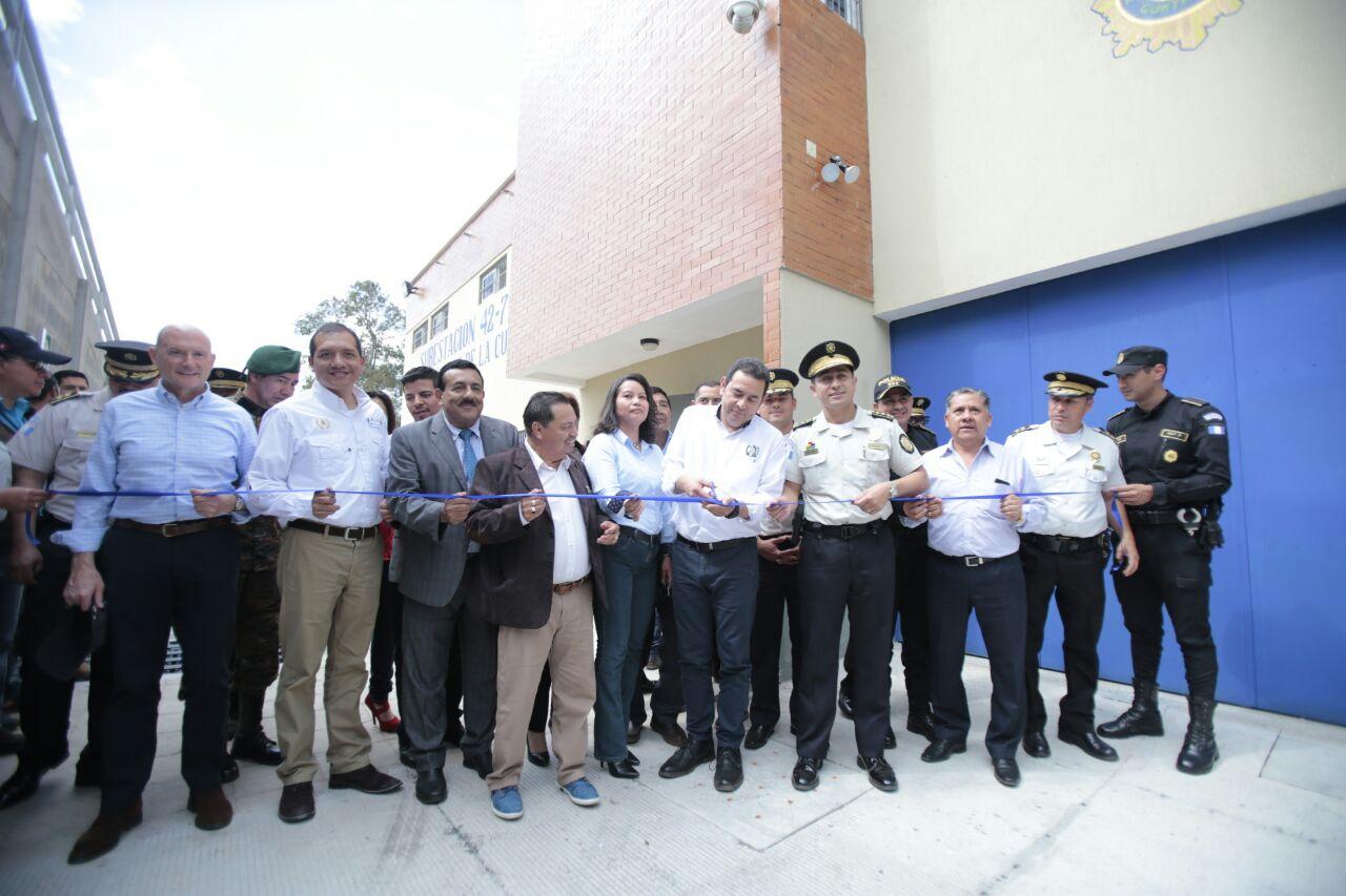 INAUGURACIÓN DE SEDE POLICIAL EN SAN RAFAEL PIE DE LA CUESTA, DEPARTAMENTO DE SAN MARCOS